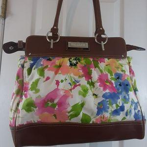 Chaps multicolored floral shoulder bag